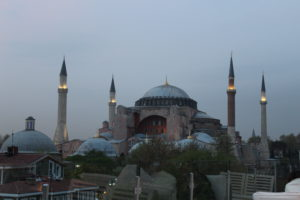 The view of the Hagia Sophia from the roof terrace of my hotel.
